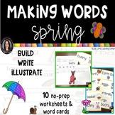 Making Words SPRING Writing Center