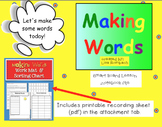 Making Words SmartBoard Lesson Primary Grades