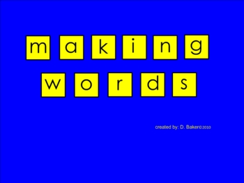 Making Words Smartboard 2