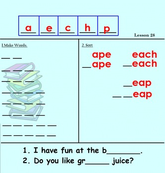 Making Words Smartboard Activities First Grade