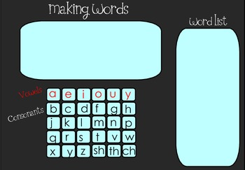 Making Words Smartboard Activity