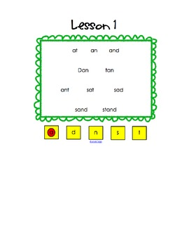 Making Words Smartboard File - Systematic Sequential Phonics They Use