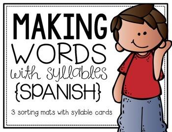 Making Words {Spanish Syllable Sort}