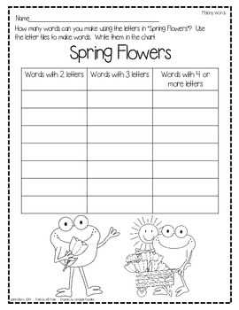 Making Words-Springtime Edition
