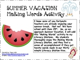 Making Words--Summer Vacation {FREEBIE}