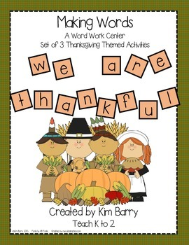 Making Words - Thanksgiving Edition