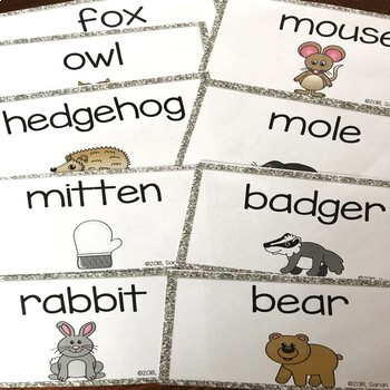 Making Words~ The Mitten ~ NO-PREP Word Work Center