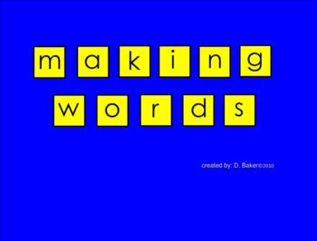 Making Words Using the Jack-o-Lantern