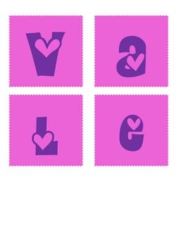 Making Words {Valentines}