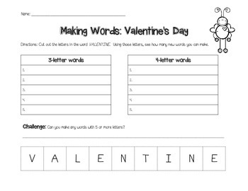 Making Words- Valentine's Day
