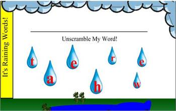 Making Words: Weather!
