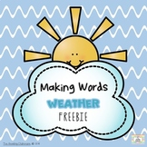 Making Words - Weather Freebie