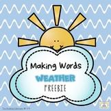 Making Words - Weather Freebie