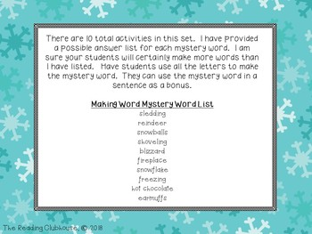 Making Words - Winter Edition