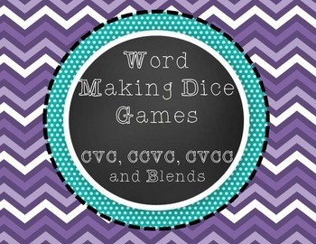 Making Words With Dice!