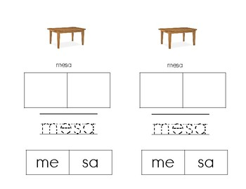 Making Words With SÍlabas con Mm