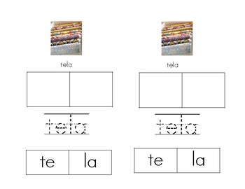 Making Words With SÍlabas con Tt