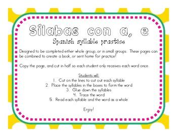 Making Words With Sílabas (Sílabas a, e)