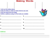 Making Words/ Word Study Activity