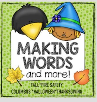 WORD WORK Making Words Fall
