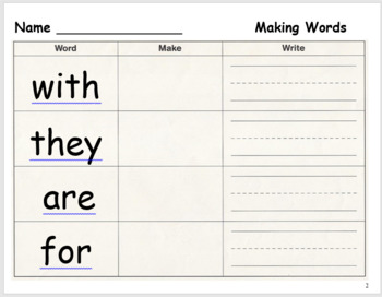 Making Words Year Long Bundle