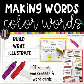 Color Words - Making Words Writing Center