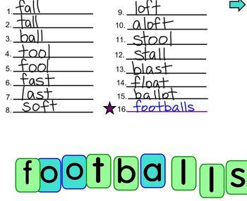 Making Words: footballs