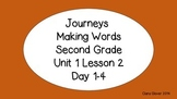 Making Words for Journeys Unit 1 Lesson 2
