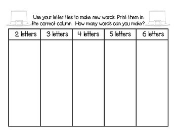 Making Words for March - Guided Activities for Spelling and Vocabulary Skills