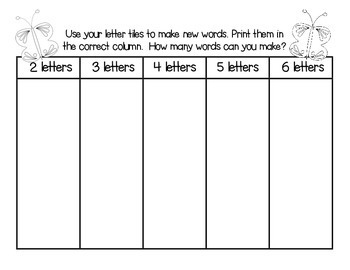 Making Words for May - Guided Activities for Spelling and Vocabulary Skills