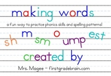 Making Words for the SmartBoard (blends, digraphs, endings) FREE!