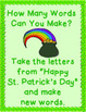 """Making Words"" on St. Patrick's Day"
