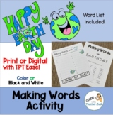 Making Words with EARTH DAY