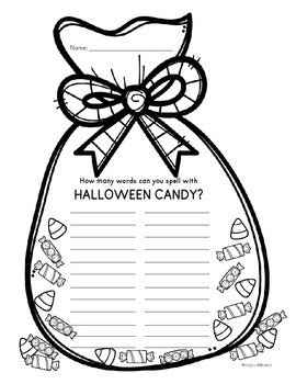 Making Words with Halloween Candy