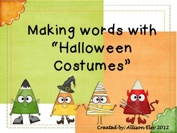 """Making Words with """"Halloween Costumes"""""""
