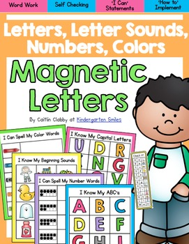 Magnetic Letters: Letters, Letter Sounds, Color Words, Number Words
