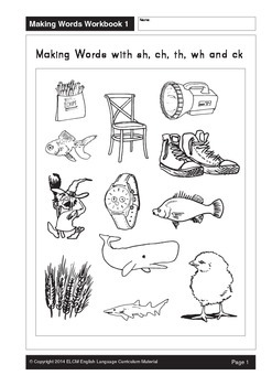 Making Words with sh, ch, th, wh, ck (33 pages)