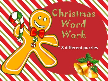 Interactive Notebook...Making Words...Christmas
