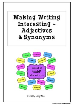 Making Writing Interesting - Adjectives & Synonyms Word Wall