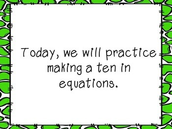 Making a 10 Addition and Subtraction