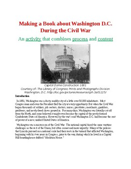 Making a Book about Washington D.C. During the Civil War