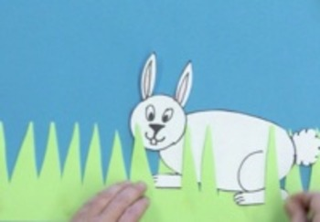 Making a Bunny in the Grass