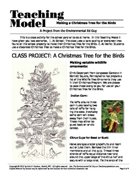 POSTER  Making a Christmas tree for the Birds - at school or at home