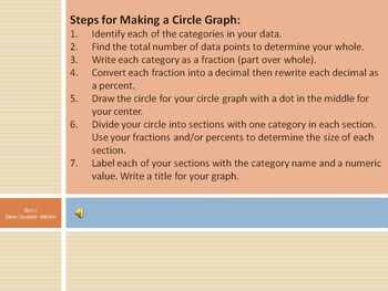 Making a Circle Graph - PowerPoint with audio