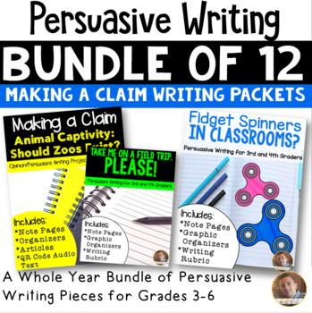 Making a Claim BUNDLE: 12 Pack (Persuasive Writing) CC Aligned