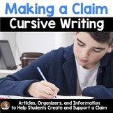 Making a Claim Cursive Writing- Should Cursive BE Taught? (Articles included)