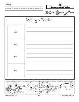 Making a Garden (Sequence and Write)