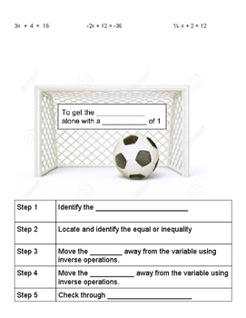 Making a Goal with Two Step Equations