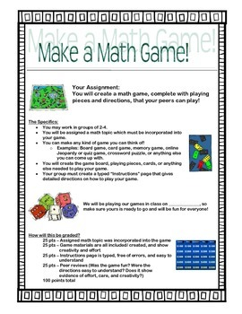 Making a Math Game Group Project