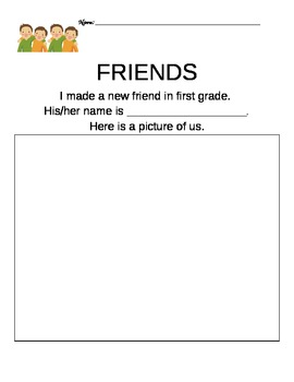 Making a New Friend Printable